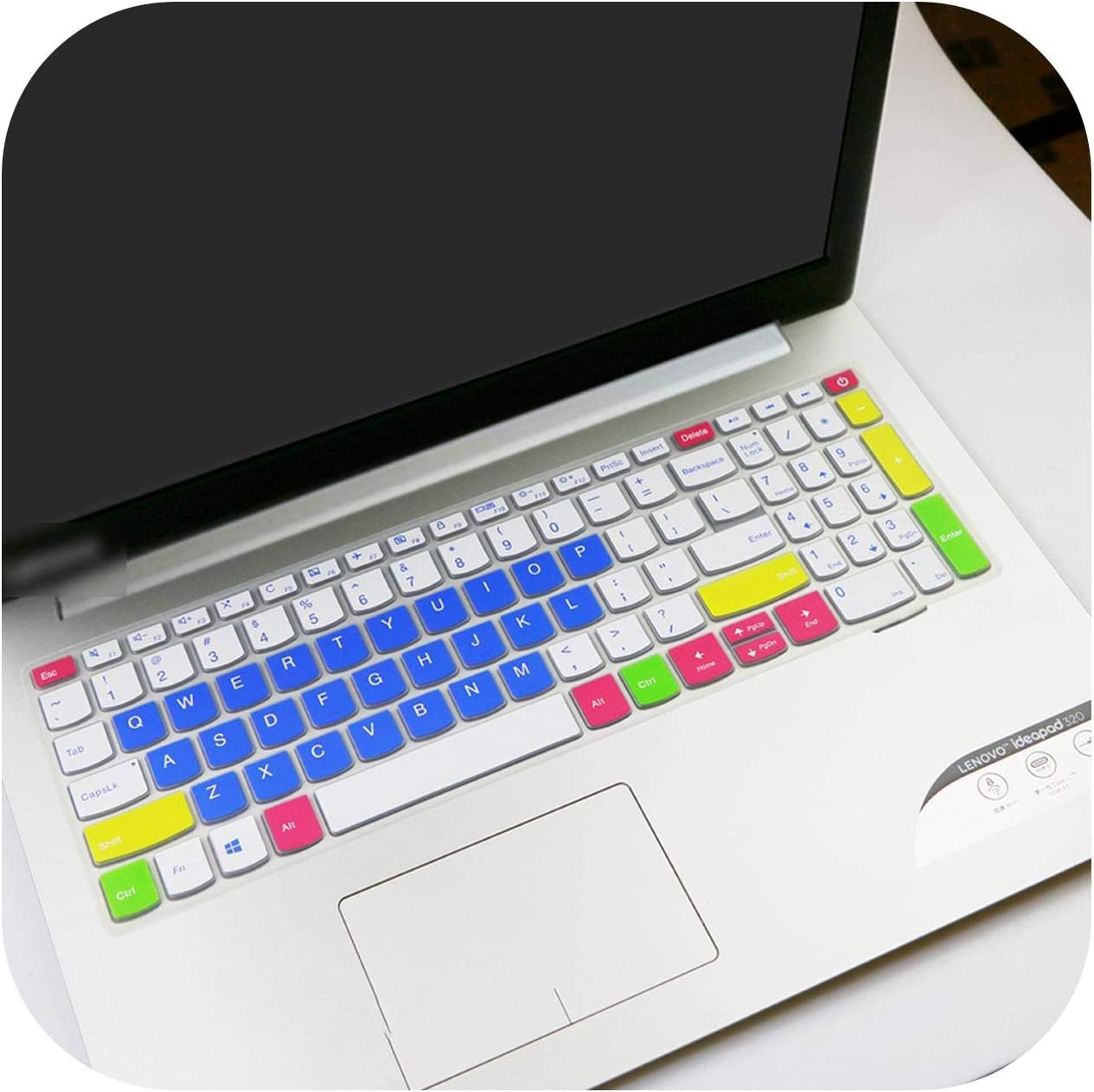 Laptop Keyboard Cover Skin Protector for Lenovo ideapad 320 17 V320 330 17 330-17 330-17ikb 320-17IKBR V320-17IKB 17.3 inch-candyblue-