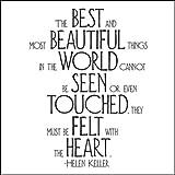 Best & Most Beautiful - Helen Keller Black and White Magnet