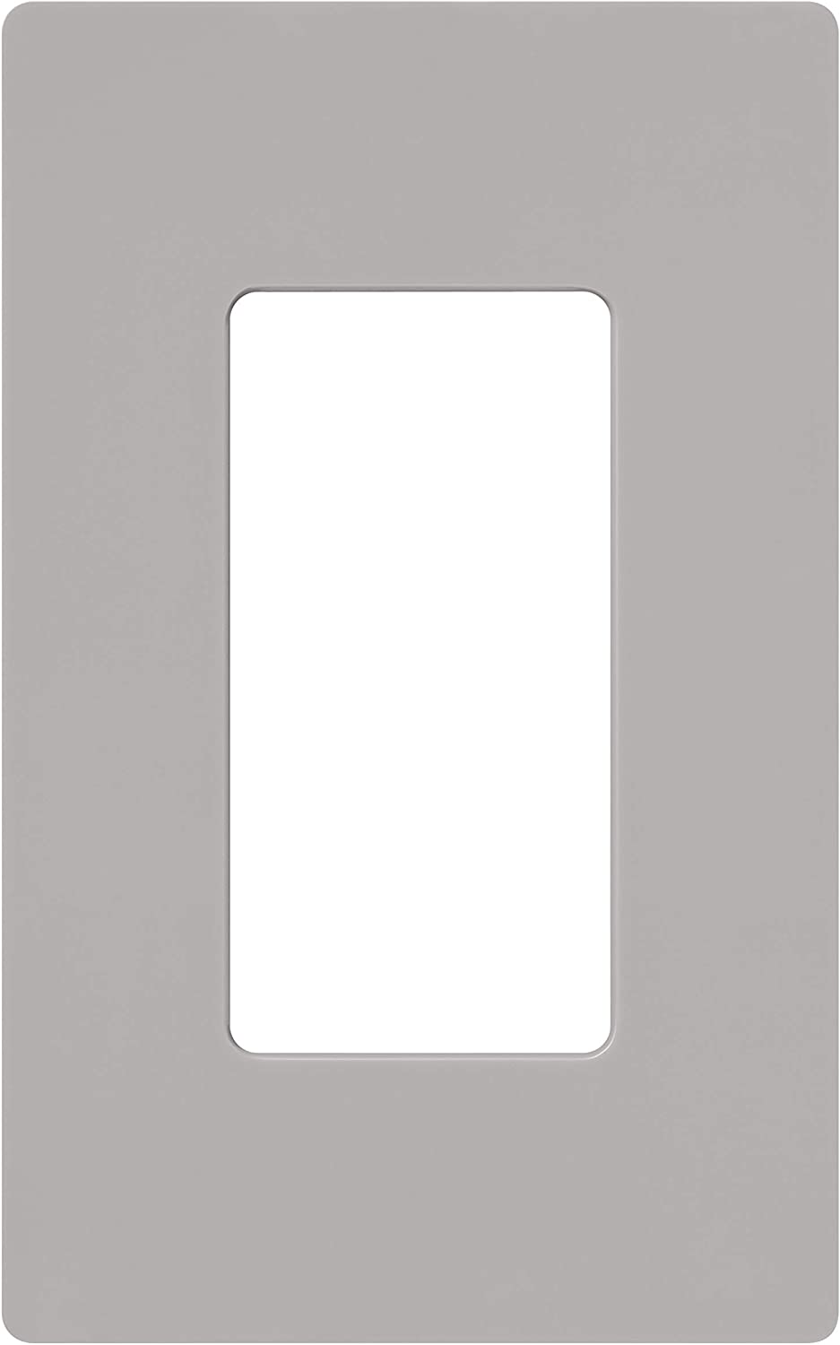 Lutron Claro 1 Gang Decorator Wallplate, CW-1-GR, Gray