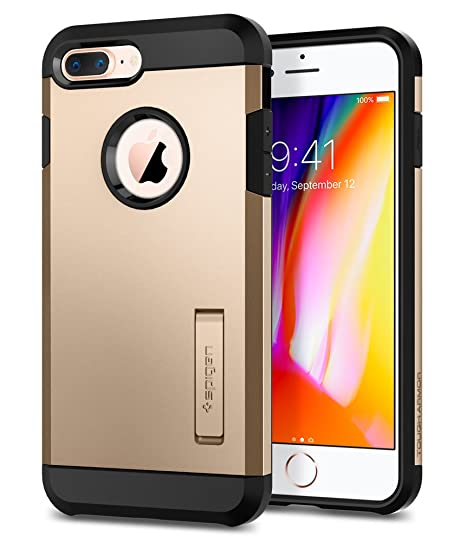sale retailer 25081 a0166 Spigen Tough Armor [2nd Generation] Designed for Apple iPhone 8 Plus Case  (2017) / Designed for iPhone 7 Plus Case (2016) - Champagne Gold