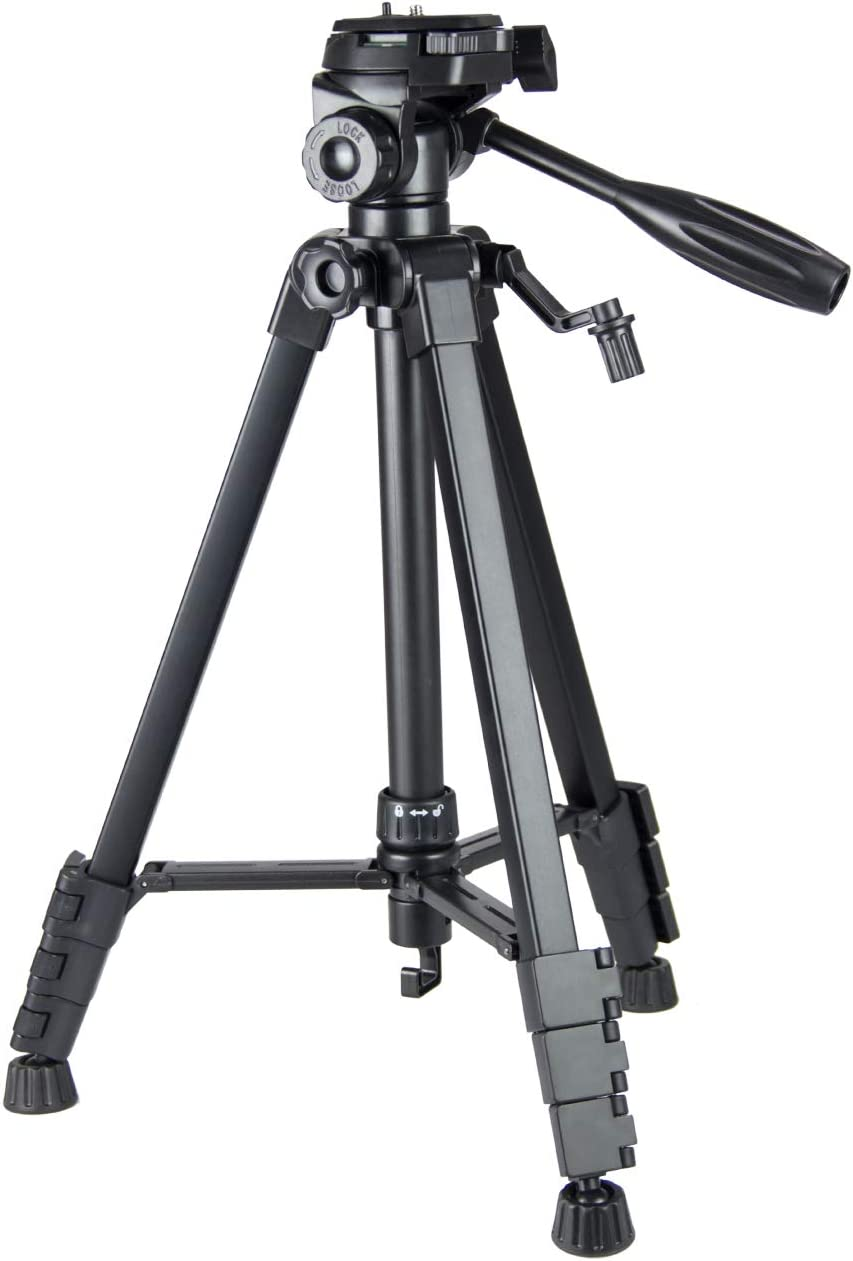 9.2Lbs Load LKG 60-inch Aluminum Travel Camera Tripod for DSLR SLR and Phone with Carry Case Black