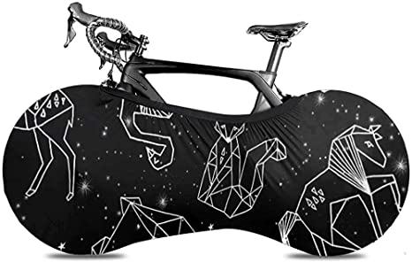 Cubierta De Bicicleta,Constellation Animals Black Stars Fundas De ...