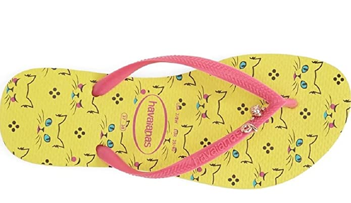 1db90b6853ce9 Havaianas Women's Slim Pets Revival Yellow Sandals