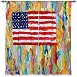 DiaNoche Designs WCL-KarenTarltonAmericanFlag6 Lined Window Curtains, 80W x 82H in