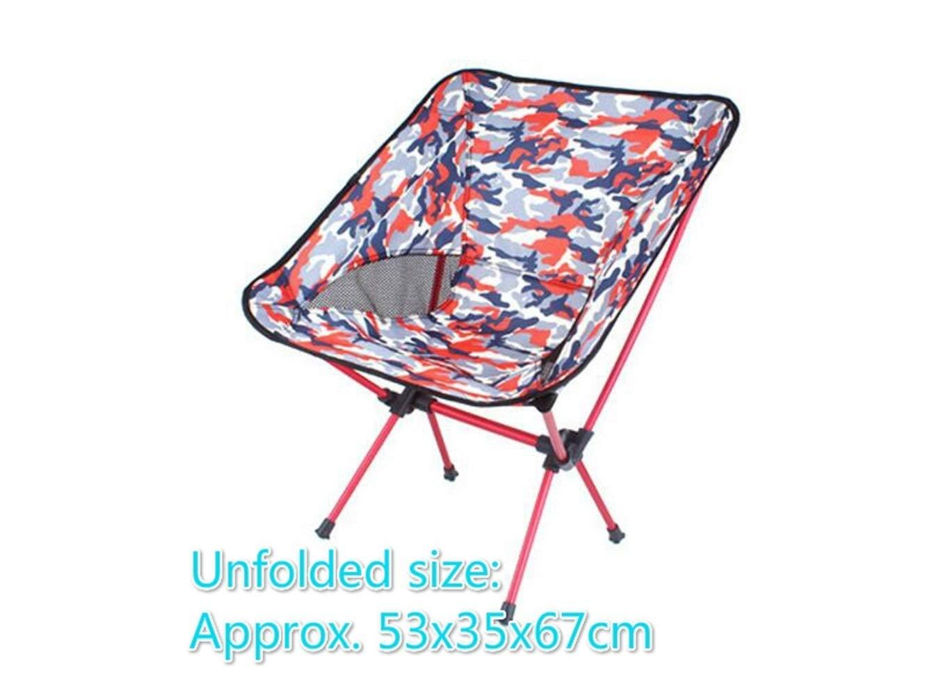 LMKIJN Silla cómoda Camuflaje portátil Plegable Silla de reclinable Pesca reclinable de Silla de Camping para al Aire Libre y la Pesca (Rojo) Muebles de Exterior b5a9fa