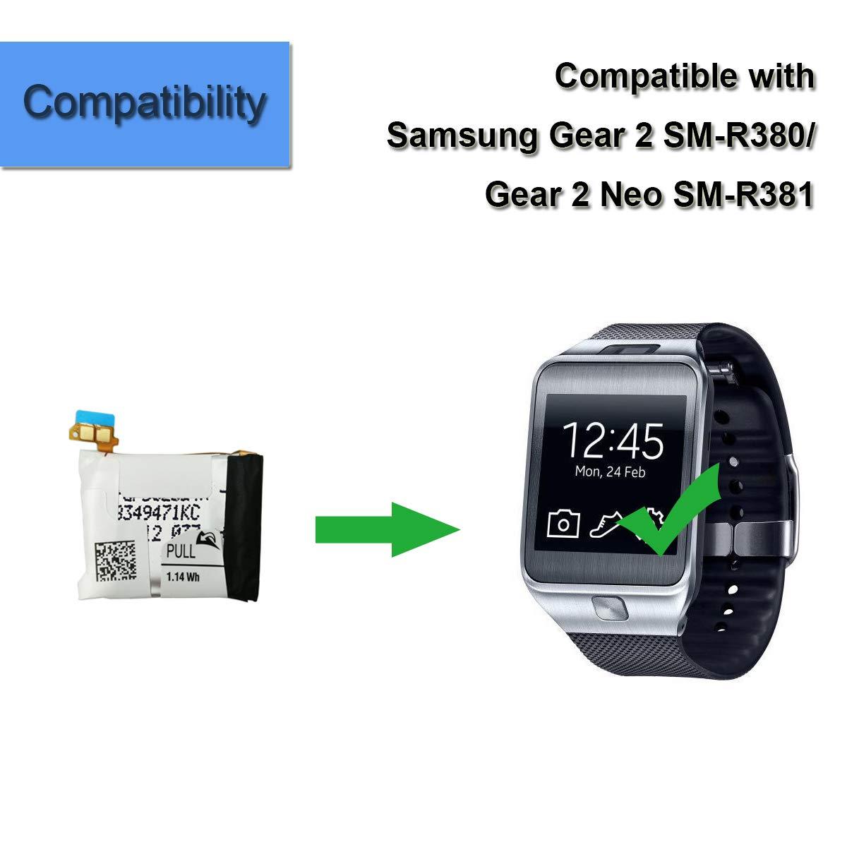 Batería de Repuesto para Reloj Inteligente SM-R380 SM-R381 ...
