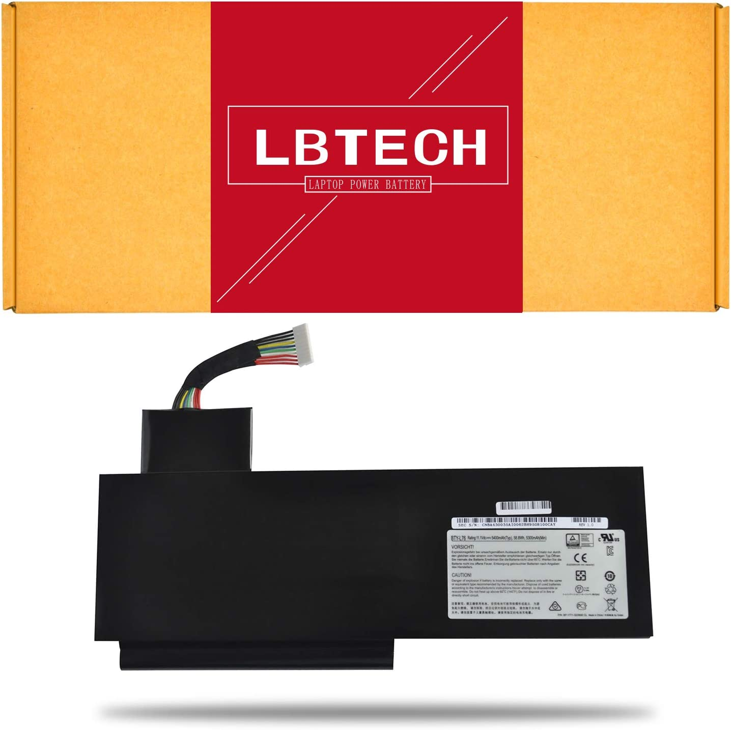Amazon.com: LBTECH BTY-L76 Compatible Laptop Battery Replacement for MSI  GS70 WS72 GS72 Medion Erazer X7615 X7613 Schenker XMG C703 Series 11.1V  58.8Wh: Home Audio & Theater