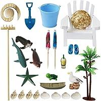 BangBangDa Mini Beach Zen Garden Accessories Kit - Desktop Sandbox Tools Bamboo Rake Ornament Decoration Office Stress Relief Toys Therapy Decor Man Woman Father Mather Meditation Zen Gifts