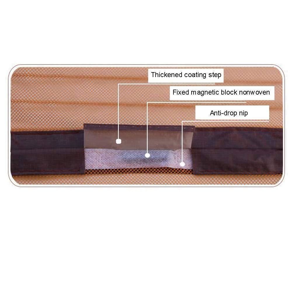 39x87pollice Velcro Ventilazione Silenziosa con Zanzariera Magnetica Tenda Porta Adatto per Balcone Soggiorno Camera da Letto e Cucina-100x220cm -beige Zanzariera Magnetica per Porte