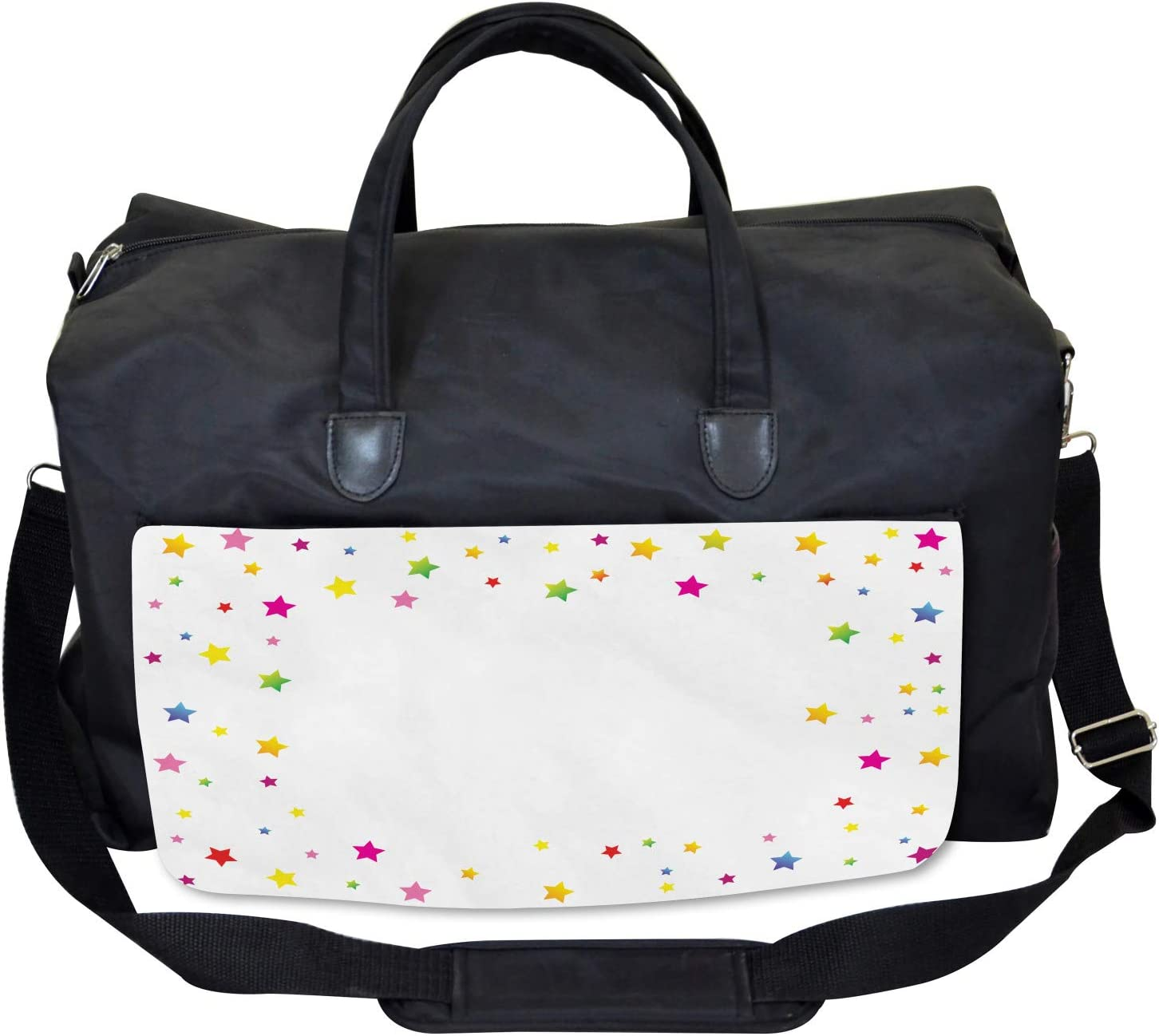 Vivid Stars Design Ambesonne Abstract Art Gym Bag Large Weekender Carry-on