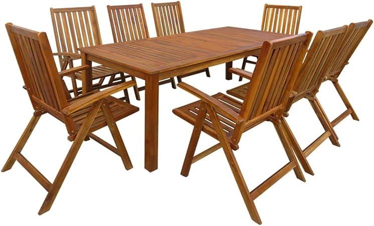 Festnight Salon de Jardin d\'extérieur 1 Table et 8 chaises ...