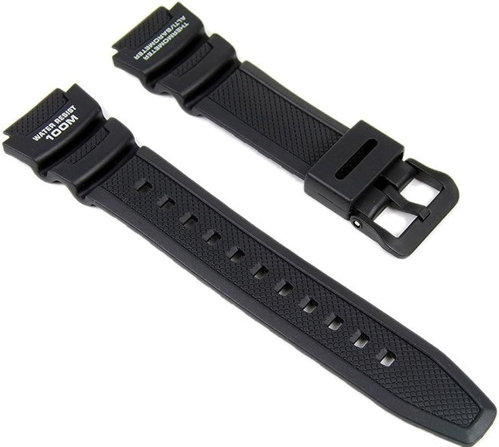 Casio Correa de Reloj Resin Band negro para SGW-400H SGW-300H