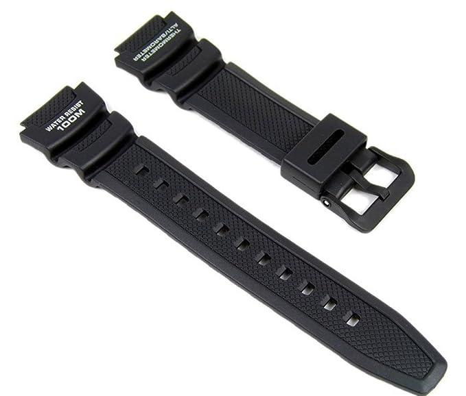 Casio Correa de Reloj Resin Band negro para SGW-400H SGW-300H: Amazon.es: Relojes