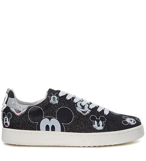 MoA - Master of Arts Women's moa Mickey Mouse Black Glitter Sneaker 39(EU)
