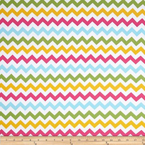 Riley Blake Cotton Jersey Knit Small Chevron Girl Multi Fabric By The Yard