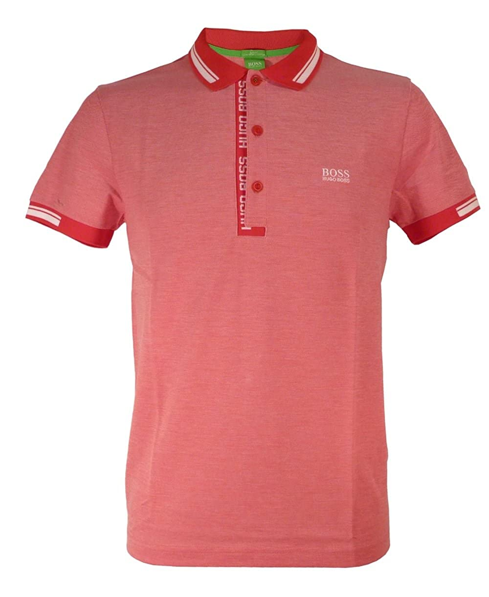848981265 HUGO BOSS GREEN Men's PAULE 4 S/S POLO SHIRT (Red/White/Silver) - XL:  Amazon.ca: Clothing & Accessories