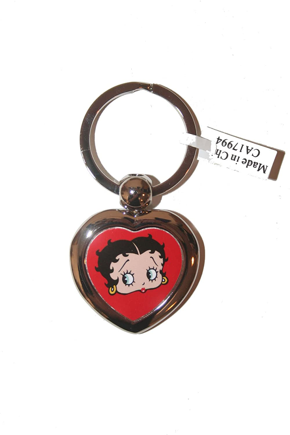 Betty Boop Licensed Heart Picture Metal Keychain .. New SUPERDAVES SUPERSTORE