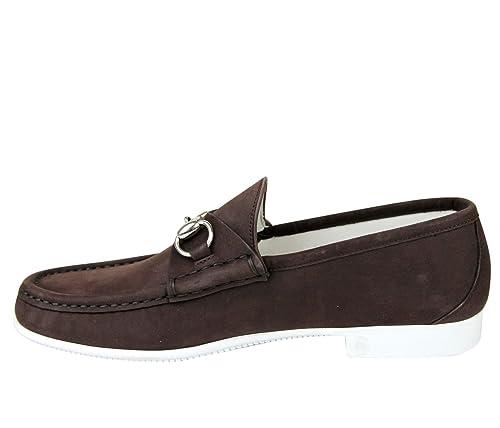 d490470d0ba Gucci Moccasin Suede Horsebit Loafer 337060 BHO00  Amazon.ca  Shoes    Handbags