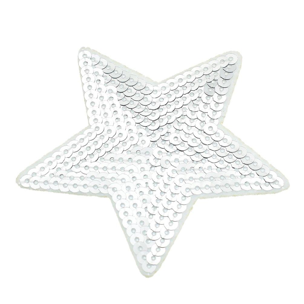 Kesheng 10pcs Patch Appliqu/é Ecusson Paillettes Argent/é DIY Couture Accessoire