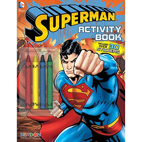 Costume Supercenter BB16564 Superman Color And Activity Book -