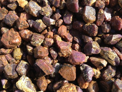 Fantasia Materials: 1 lb Premium Grade Sapphire and Ruby Rough - (Select from 3 Grades) - Raw Natural Crystals for Cabbing, Cutting, Lapidary, Tumbling, Polishing, Wire Wrapping, Wicca & Reiki - Raw Ruby