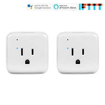 Amazon CRST 2 Pack 1250W 5A Wi Fi Control Smart Plug Mini Outlet Compatible With Alexa Echo Google Assistant And IFTTT No Hub Required