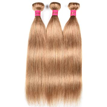 Hair Extensions & Wigs Puromi Hair Honey Blonde Malaysian Straight Pre Colored #27 Human Hair Weave 3 Bundles 100% Non-remy Double Weft Hair Extension