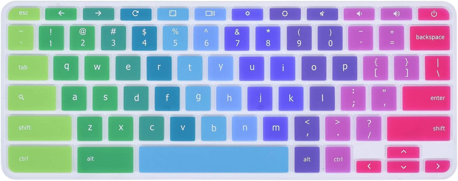 "Colorful Keyboard Cover Skins Compatible with 11.6"" Lenovo Chromebook C330 /Flex 11 /Lenovo Chromebook N20 N21 N22 N23 100e 300e 500e 11.6""/14"" Chromebook N42 N42-20 (Rainbow)"