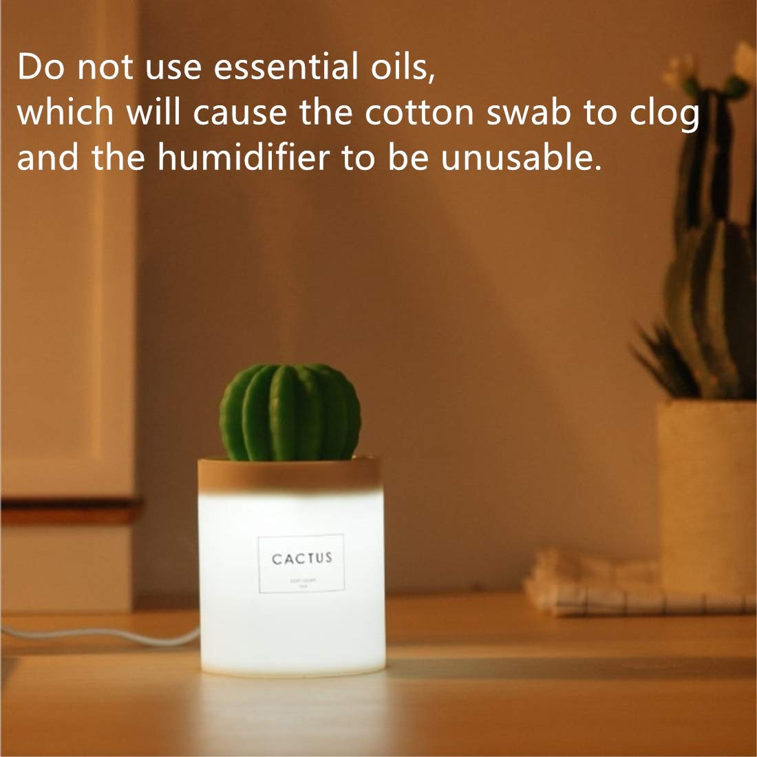 for Bedroom WEIFA Mini Humidifier with LED Light Mini Cool Mist Humidifier USB Portable Air Humidifier with Auto Shut-Off Home Yoga Office Spa Desktop Baby Room Reindeer humidifier