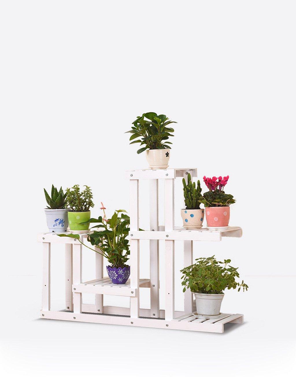 LB Pergolen aus Holz,, Wohnzimmer Balkon Bonsai Blume Montage, Holzboden Blume Mehrschicht Montage Blumentopf Regal ( farbe : B )