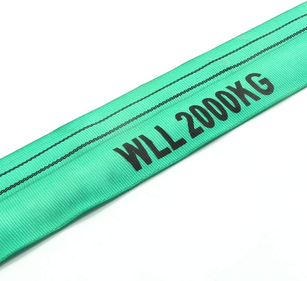 Color : Green, Size : 5m Green Slings 1-10mtr Lengths in Listing WLL 2 Tonne Double Polyester Cover Endless Round Poly Lifting Slings
