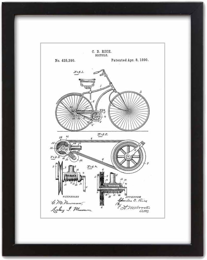 ArtDash Studio: 1890 Bicicleta: impresión artística de Patente ...