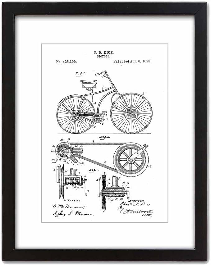 ArtDash Studio: 1890 Bicicleta: impresión artística de Patente clásica.: Amazon.es: Hogar