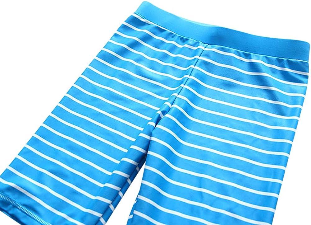 Sun Protection Baby Little Boys Two Piece Crab Rash Guard Swimsuits Kids Blue Stripe Sunsuit Swimwear Sets UPF50