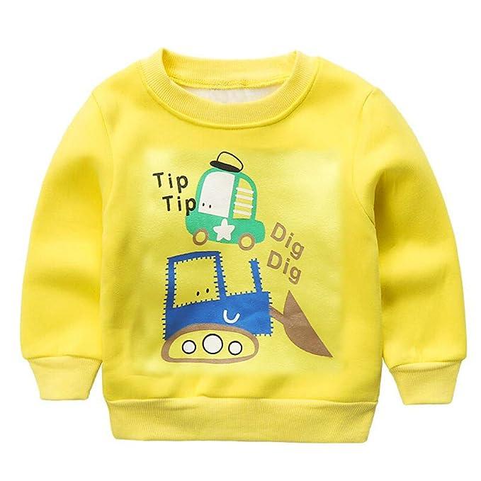 Amazon.com: Toddler Kids Girls Boys G-Real, Long Sleeve Cartoon T Shirt Tops Tractors Print Sweatshirt Warm Clothes: Clothing