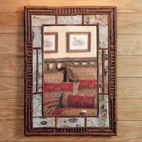 - Black Forest Decor Birch & Twig Adirondack Mirror