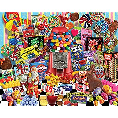 White Mountain Puzzles Candy for All Seasons, 1000 Piece Jigsaw Puzzle: Toys & Games