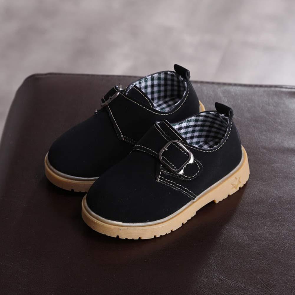 Toddler//Little Kid F-OXMY Boys Slip-on School Uniform Dress Strap Shoes Round Toe Vintage Oxford Shoes