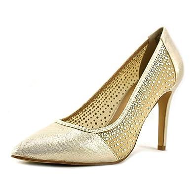 Thalia Sodi Womens Natalia2 Fabric Pointed Toe Classic Pumps Gold Size 9.5 ANe
