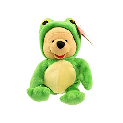 "Retired Disney Winnie the Pooh Dressed as Frog 9"" Plush Bean Bag Doll: Toys & Games"