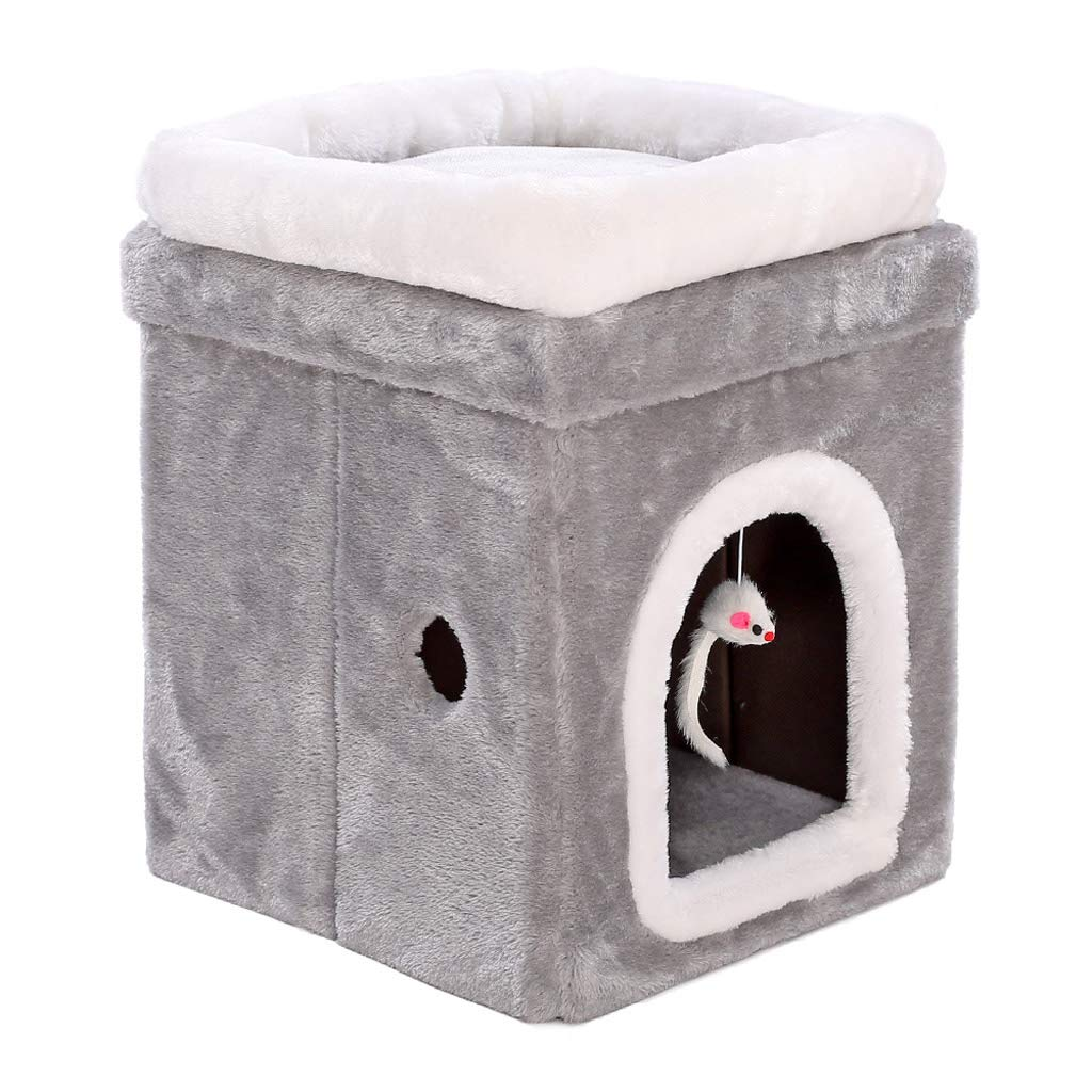 S Cat House Winter Warm Seasons Universal Cat Bed Pet House Box Big Deep Sleep Cat Bed (Size   S)