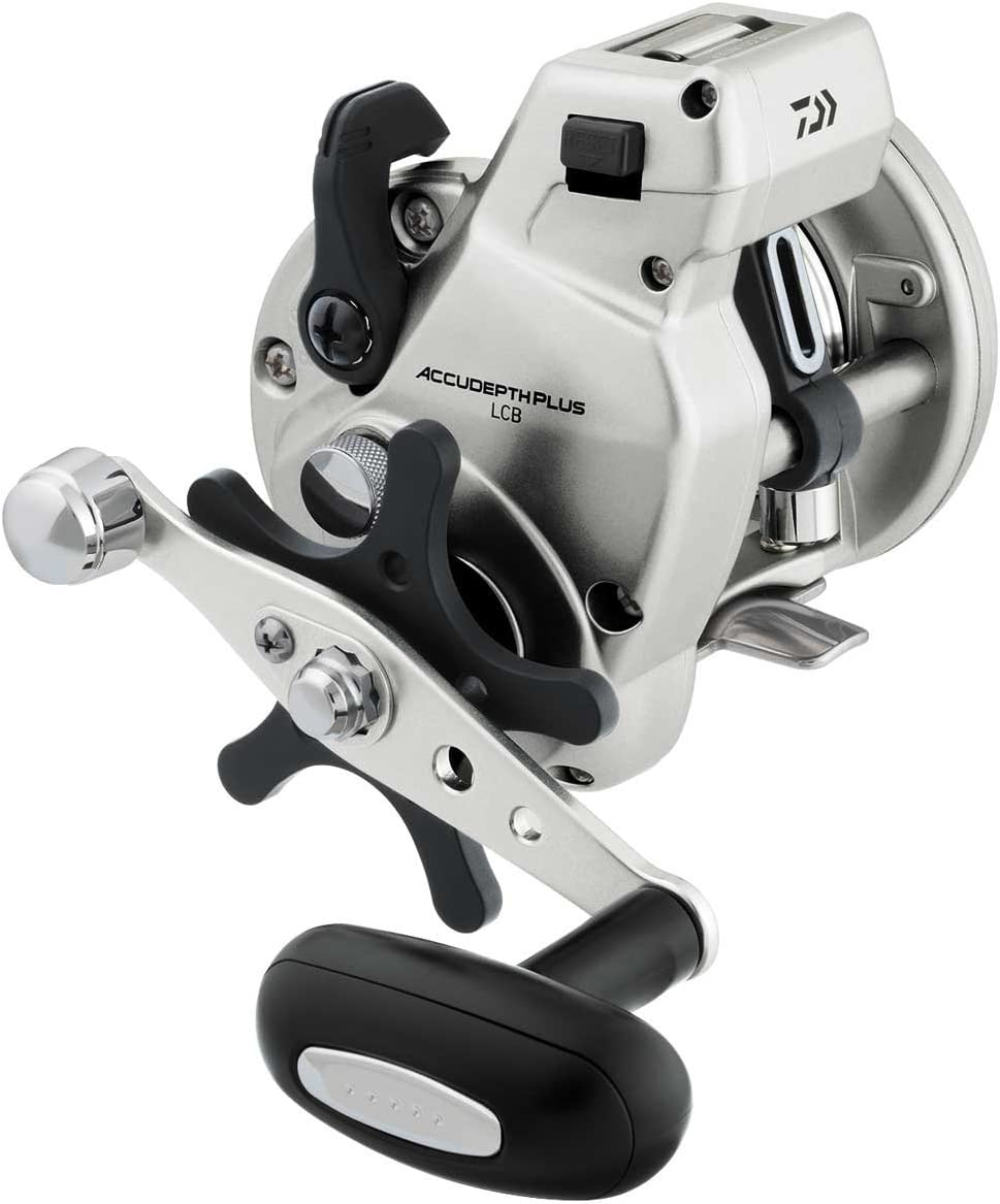 Daiwa Accudepth Plus-B Line Counter Levelwind Fishing Reel (Silver, 27)