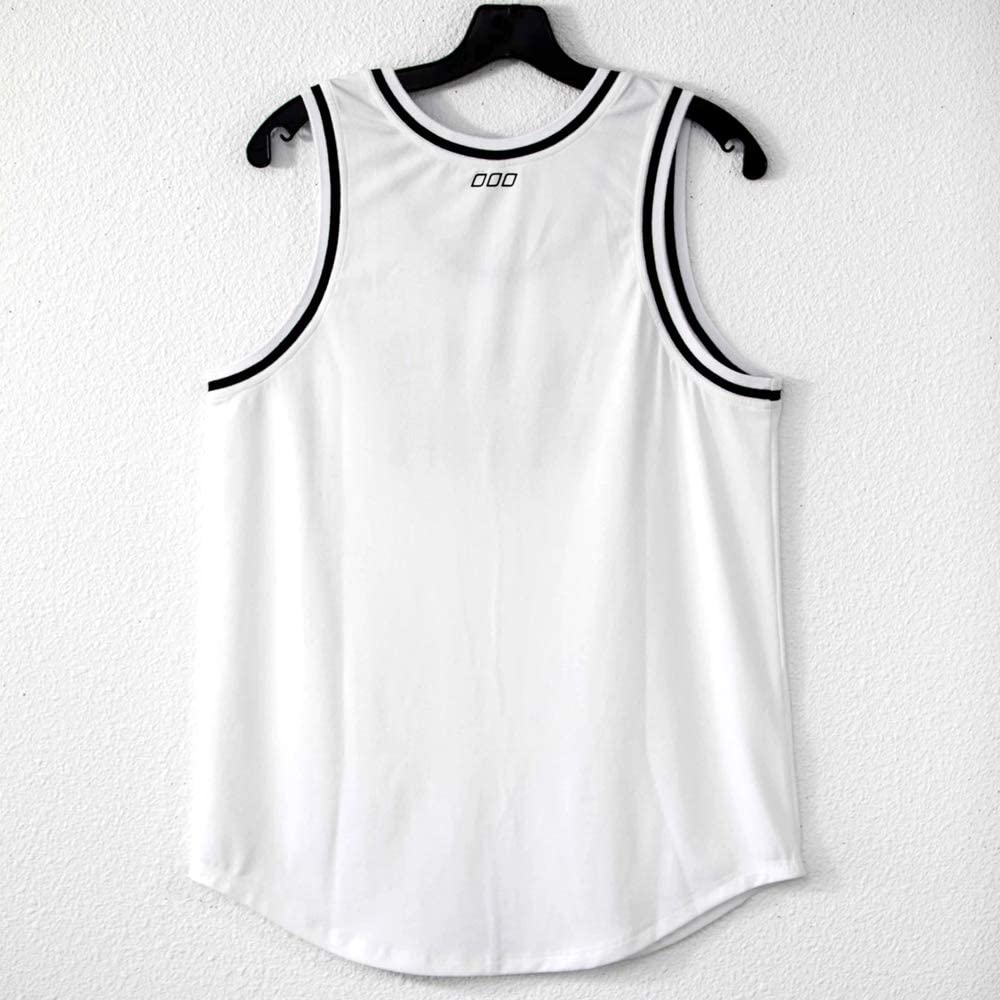 Wholesale Rapheeze Soft Comfortable Sleeveless White Sporting and Event T-Top