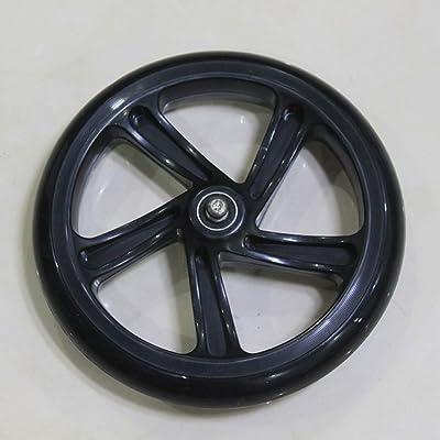 '8Adult Scooter roue avec roulement Kid PU de trottinette de No Need Air Trolley Roue non pneus de roulettes en plastique de