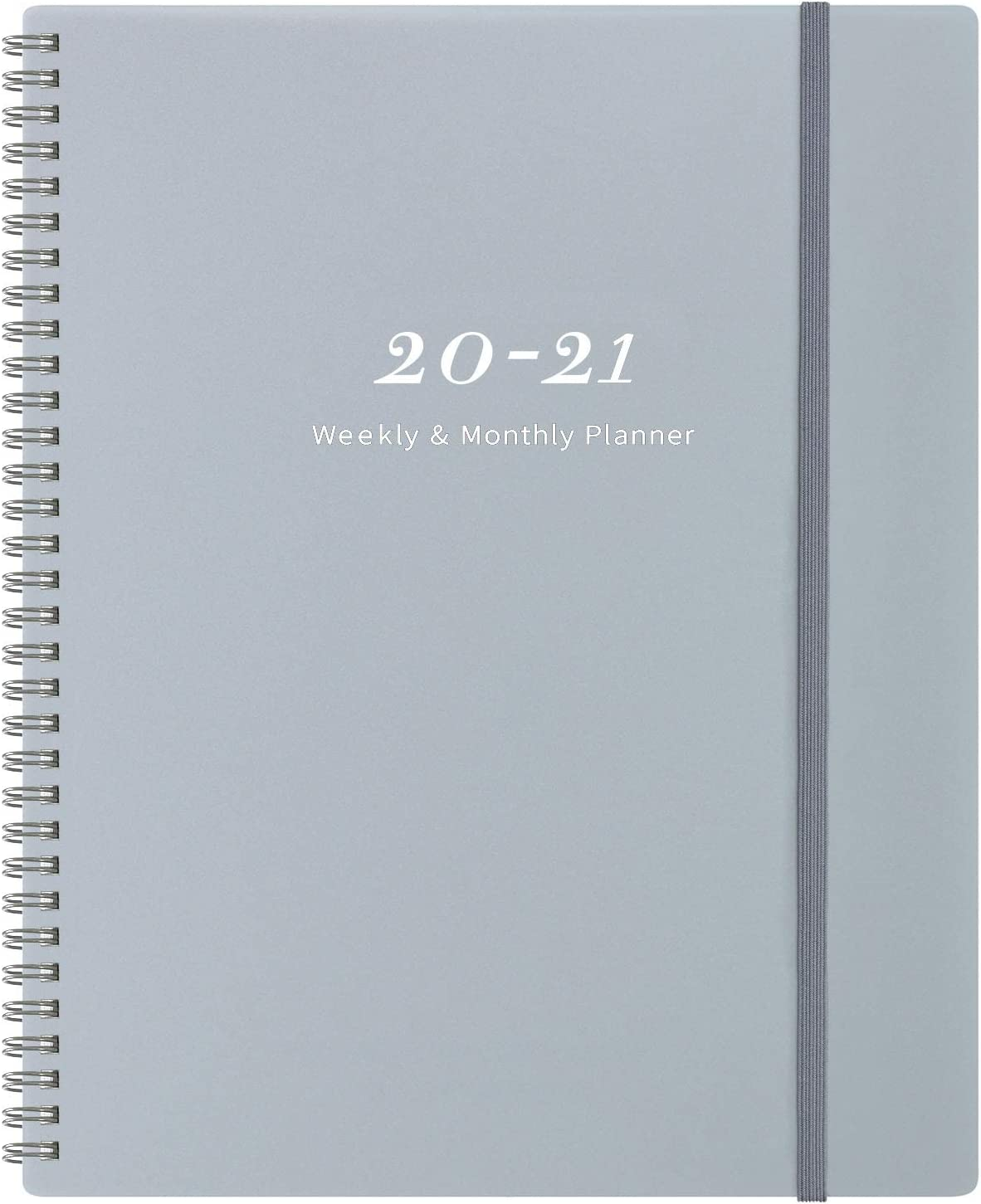 "2020-2021 Planner 9"" x 11""- Weekly & Monthly Planner with Tabs, Elastic Closure and Thick Paper, Back Pocket with 21 Notes Pages"
