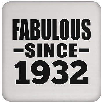 Birthday Gift Idea Fabulous Since 1932 Drink Coaster Non Slip Cork