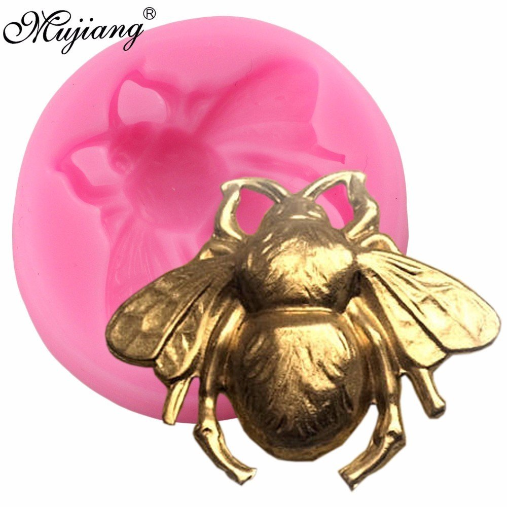Star Trade Inc - 3D Bumble Bee Cake Silicone Mold Fondant Candy Chocolate Fimo Clay Mould Kitchen Baking Sugarcraft Cake Decorating Tools ( 1 pcs)