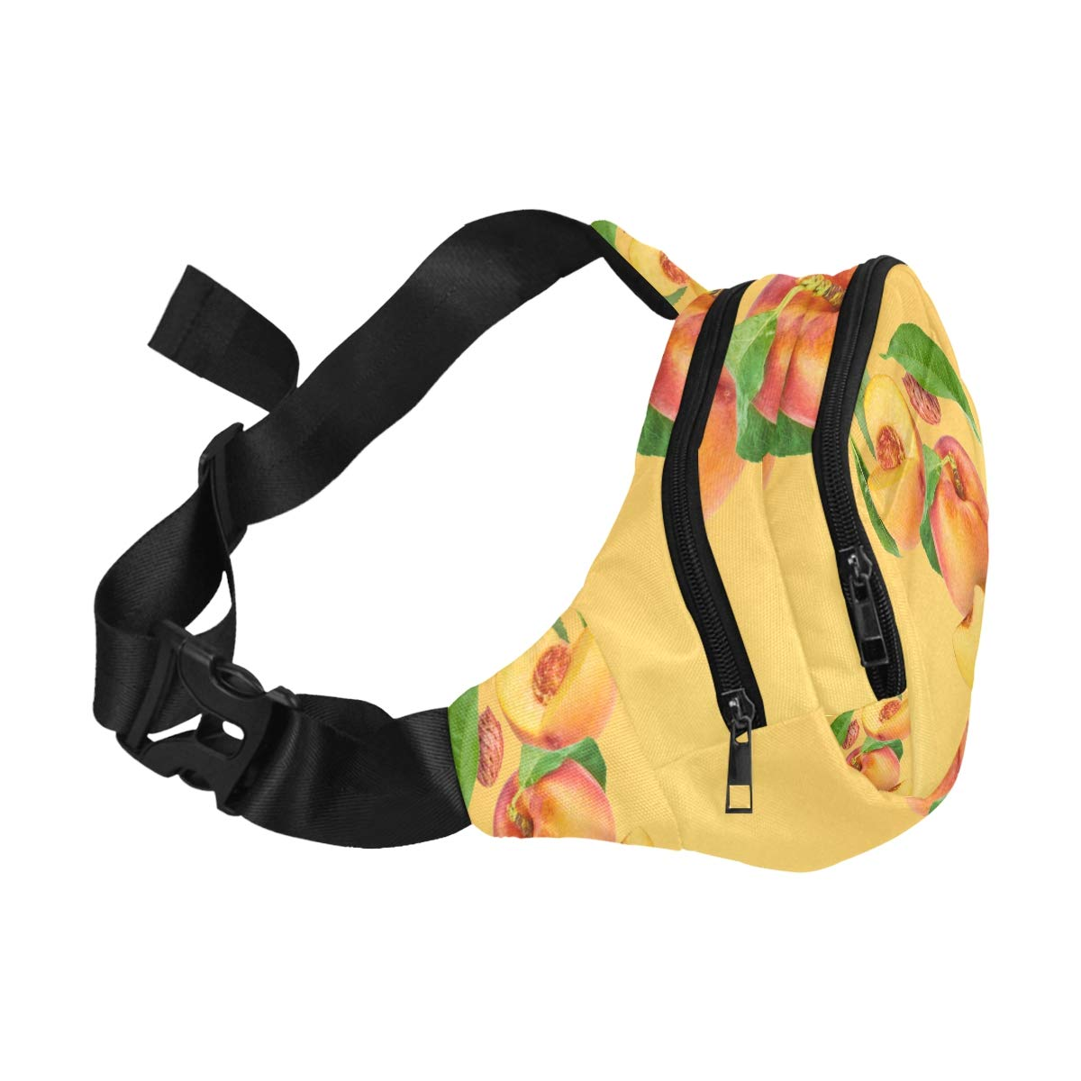 Apricot Fresh Fruits Fenny Packs Waist Bags Adjustable Belt Waterproof Nylon Travel Running Sport Vacation Party For Men Women Boys Girls Kids