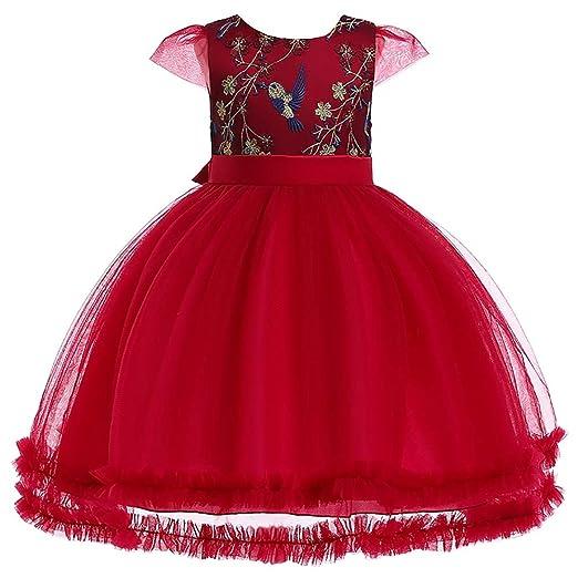 Susulv-CL Vestido de Traje de Princesa Falda Infantil Vestido de ...