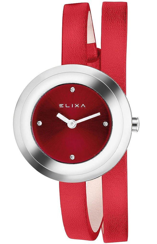 Elixa e092-l347 - Reloj, diseño de doble correa de piel: Elixa: Amazon.es: Relojes